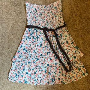 Strapless Roxy Dress with Belt